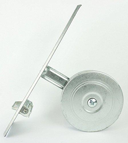 Rollwin 4x Rolladen Gurtwickler Unterputz | Lochabstand 185mm | mit Gurtwicklerblende Weiß für 10m Gurt 23mm Maxi Rollo