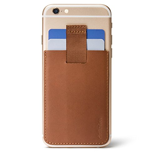 Distil Union Wally Junior - Slim, Secret Leather Wallet and Card Holder for Smartphones, The Only Leather Stick-On Wallet with Pull-Tab