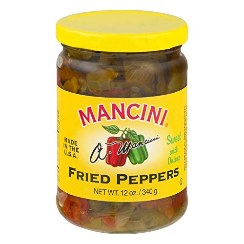 Mancini Packing Co Peppers, Fried, W/Onion, 12-Ounce (Pack of 6)