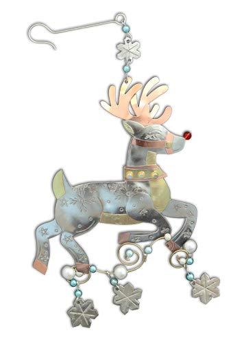 Green 3 Pilgrim Imports Christmas Ornaments Classic Reindeer