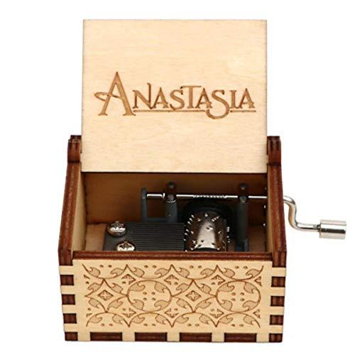 Aomerrt Grabado Hecho a Mano de Madera Anastasia Music Box Regalo de cumpleaños para Navidad, Hija, Regalos de cumpleaños para Amantes, UNA Vez AL DICIEMBRE