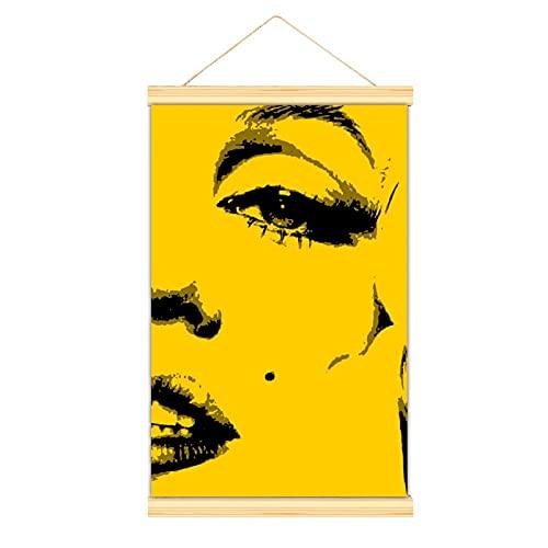 WPQL Hochwertige Leinwand zum Aufhängen eines Bildes, Norma Jeane Mortenson, modernes Leinwandbild, Poster, einfach anzubringen, dekoratives Poster, Esszimmer, Büro, Schlafzimmer, Fitnessstudio.