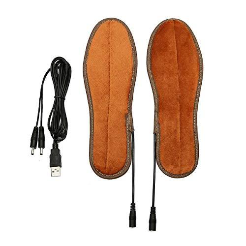 Swarouskl Unisex USB aufladbare Galvanic Het Einlegesohlen for Schuhe Winter Warmer Heizung Fuss Schoner Stiefel Lade Heizung Einlegesohlen (Color : 45)