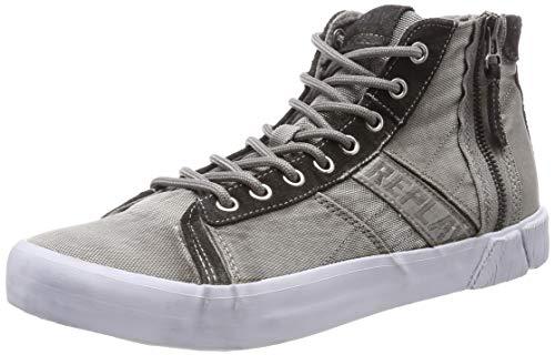 Replay Herren Room - Dock Hohe Sneaker, Grau (Grey 28), 44 EU