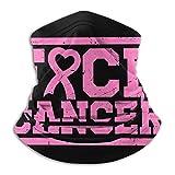 XXWKer Calentador de Cuello Deporte Calentador Pasamontañas Polar Máscara FCK Cancer Pink Ribbon Breast Cancer Neck Warmer Gaiter Fleece Ski Face Mask Cover for Winter