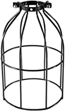 Ceiling Metal Lampshade FAVOLOOK Geometric Vintage Industrial Black Steel Pendant Light Bulb Guard Clamp E27 Light Lamp Bi...