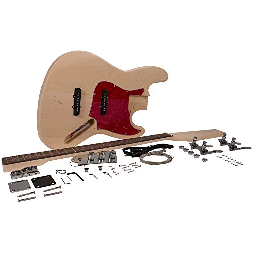 Seismic Audio - SADIYG-19 - Vintage J-Bass Style DIY Electric Guitar Kit - Unfinished Luthier Project Kit