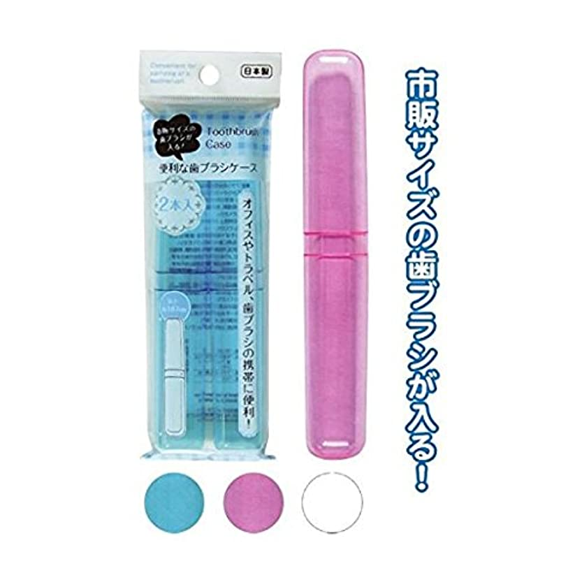 テキストモデレータ提供市販サイズが入る歯ブラシケース(2本入)[ 12個セット] 35-226