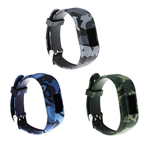 Ruentech Ersatz-Armband Kompatibel mit Garmin Vivofit jr.2 für Kinder, Größe S, verstellbar, Gemustert, Silikon, Ersatzband Kompatibel mit Garmin Vivofit jr 2 Kinder-Aktivitätstracker