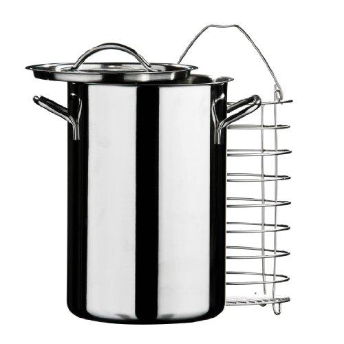 Premier Housewares Cuiseur vapeur pour légumes/asperges Inox Diamètre 15 cm/ Hauteur 23 cm (Import Grande Bretagne)