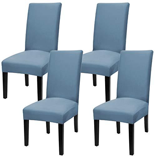 YISUN Fundas universales elásticas para sillas de comedor (juego de 4, 6 unidades), color azul cielo
