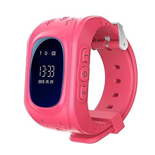 Niños Smartwatch Teléfono Localizador GPS, Reloj de Pulsera Inteligente con Chat de Voz SOS Cámara Despertador Reloj Digital Mejor Regalo Niño y niña de 3 a 12 años Compatibles con iOS Android,Rosa