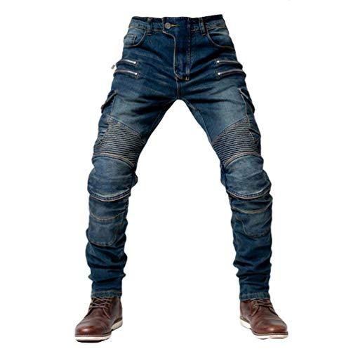 Yuanu Jeans Hommes Pantalon Moto Décontractée Équitation...