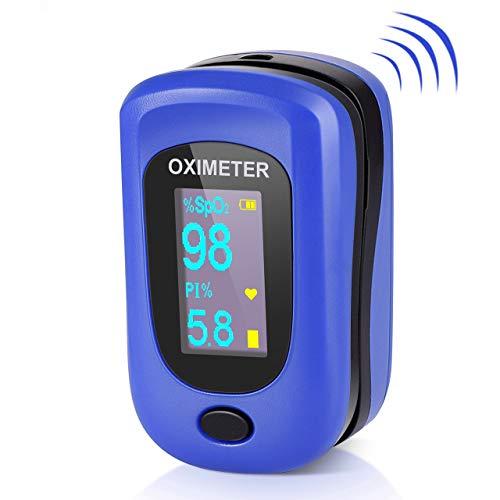 Oxímetro de Pulso, Pulsioximetro de Dedo Profesional con Pantalla OLED...