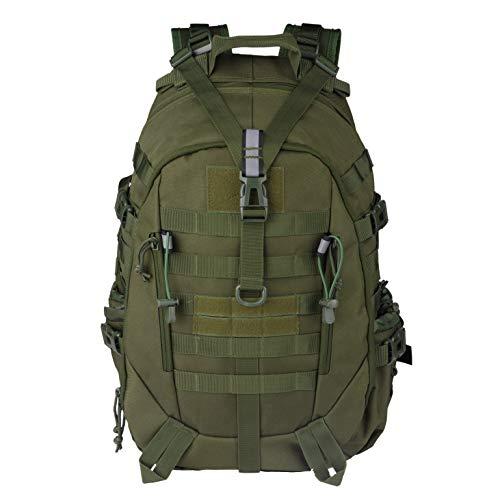 LHI Zaino Tattico Militare Uomo 35L 45L Army Pack BugOut Bag Molle Zaino con Riflettore, Unisex - Adulto, Verde militare, 45L