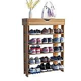 SogesHome Shoe Racks 75x 24 x 94 cm 5 Tiers with Drawers Organizadores de Zapatos de Madera Organizador de Zapatos, L24-TK-SH