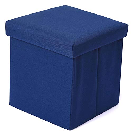 Folding Ottoman, Cube Storage Footrest Stool Space-Saving Toy Box Padded Seat Footstool Shoe Bench Great for Office Living Room Hallway-30x30x30cm(12x12x12inch)-C