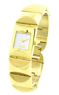 D&G Dolce&Gabbana Women's Quartz Watch with White Dial Analogue Display and Gold Stainless Steel Strap DW0323 D&G