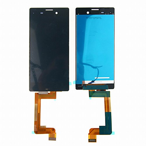 WeDone Kompatibel mit Sony Xperia M4 Aqua E2303 E2306 E2353 LCD Display Touchscreen Digitizer Glas Assembly Ersatzteile + Klebeband & Werkzeuge (schwarz)