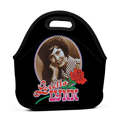 VJSDIUD Loretta Lynn Lunch Bag Tragbare Lunchbox Isolierte Lunch-Tasche Weiche Bento-Kühler-Thermotaschen