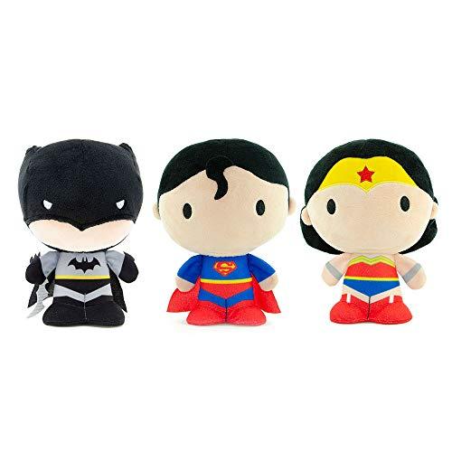 """YuMe Chibi - 7"""" DC Comics Plush Set (Batman, Wonder Woman, Superman)"""