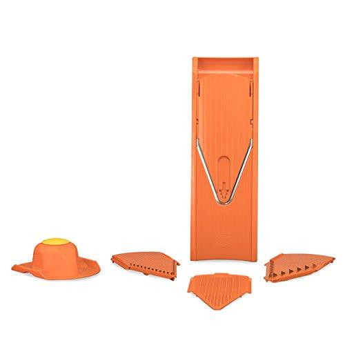 Börner V1 Gemüsehobel Starter Set orange, Kartoffelschneider Gurkenhobel Gemüseschneider Küchenreibe Pommesschneider Obstreibe Krauthobel