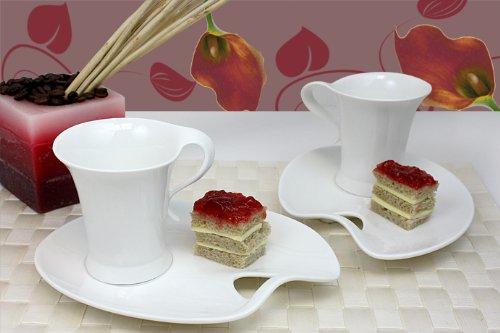 Service à café 12 tasses avec sous-tasses de 6 assiettes de service (hYC050)
