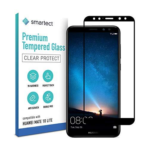 smartect Pellicola Protettiva per Huawei Mate 10 Lite [FULL SCREEN] - 9H Vetro Temperato – Design Ultra Sottile – Applicazione Anti-Bolle – Anti-Impronte