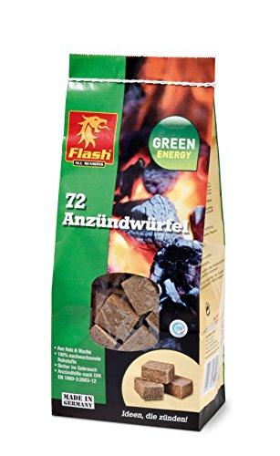 Terra Anzünder Flash Anzündwürfel 72 Stück, Braun