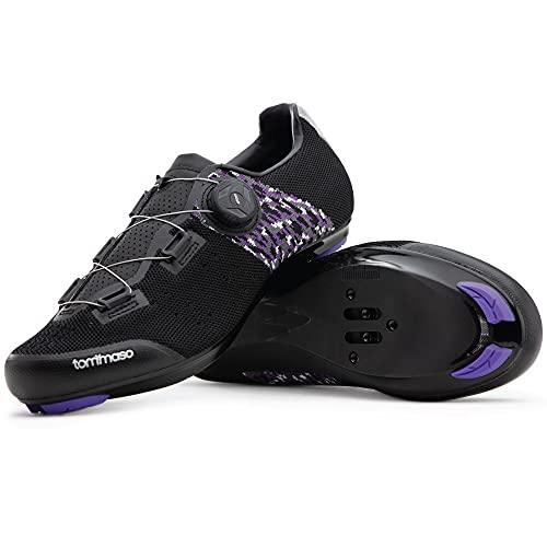 Tommaso Pista Aria Elite Women's Quick Lace Cycling Shoe - Black/Purple - 40