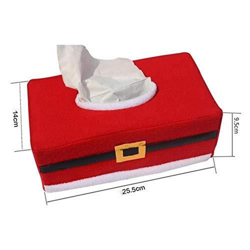 Wu Lian Navidad Santa Claus Cinturón Caja de pañuelos Cubierta Decoración del hogar Creativo Servilletero Funda...
