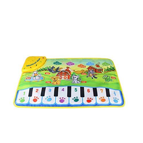 Aiming 37x60cm del bambino della moquette musicale dei bambini giocano Mat Baby Piano Musica regalo stuoia educativa del bambino