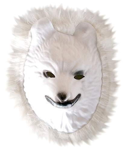KIRALOVE Máscara de Disfraz - Lobo Blanco - Disfraces de Mujer - Halloween - Carnaval - Color Blanco - Adultos - Unisex - Hombre - niños - Idea de Regalo Original