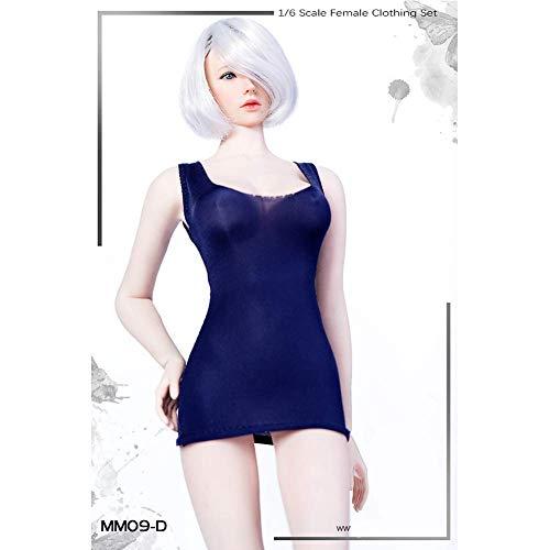ZSMD 1/6 Scale Low-Cut Kurzarm Kleid Damen T-Shirt Action Doll Bekleidung Für HT VERYCOOL TTL Play PHICEN (D)