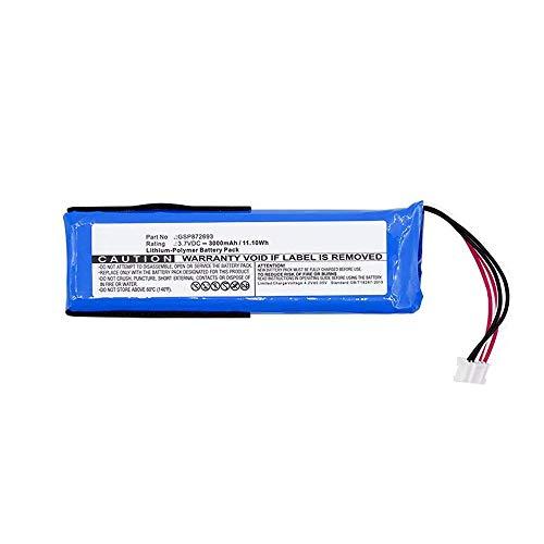 onlyguo 3.7V 3000mAh GSP872693 Reemplazo de batería para JBL Flip 3 Altavoz Bluetooth portátil a Prueba de Salpicaduras