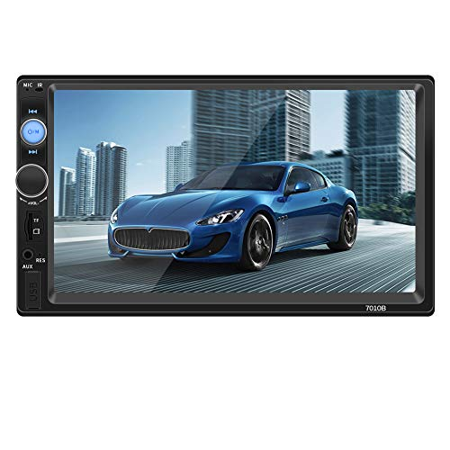 WZTO Double Din Car Stereo,Car Radio Car Stereo with Rear View Camera, Touch Screen Car MP5/4/3 Player with Bluetooth,FM Radio,USB/SD/AUX Input,Mirror Link,Support Steering Wheel Remote Control