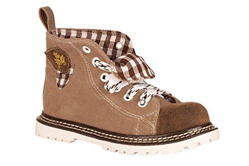 Spieth & Wensky Kinder Trachten Sneaker - JoJo - Dunkelbraun, Größe 28