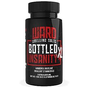 Ward Smelling Salts - Bottled Insanity - Insanely Strong Ammonia Inhalant for Athletes | Smelling Salt for Athletes - Powerlifting Hockey Football Weight Lifting and More | Insane Smelling Salt