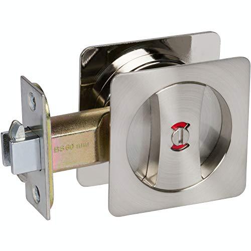 Delaney Hardware 370109 Satin Nickel Contemporary Privacy Square Pocket Lock