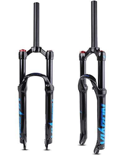 WXX 26/27,5/29 Pulgadas Horquilla De Bicicleta De Montaña Tubo Recto Control De Hombro Suspensión Neumática Aleación De Magnesio Bicicleta Amortiguador,Azul,26 Inch