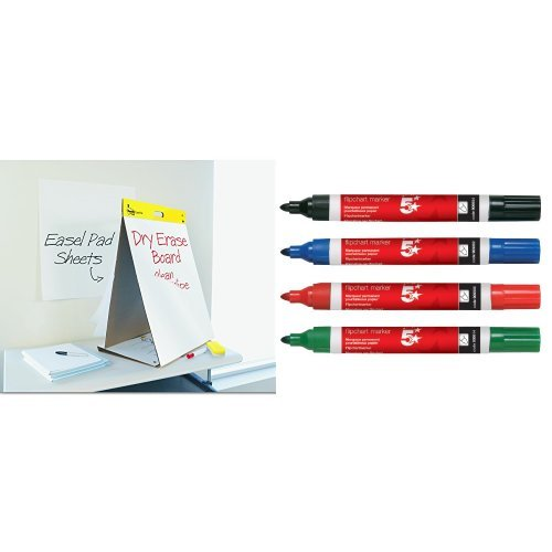 3M Portable Two in One Flip Chart and Dry Erase White Board Table Top...
