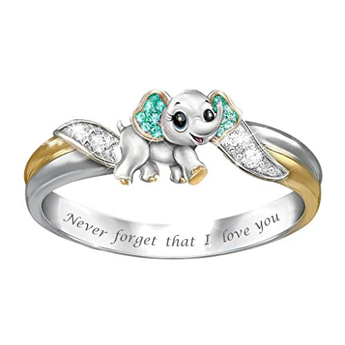 2021 Fashion Rings for Women Girls, Personalized Premium Mom Loves You Forever Rings, Diamond Silver Exquisite Wedding Ring Jewelry Gifts Rhinestone Dazzling Ring Gift Size 5-11