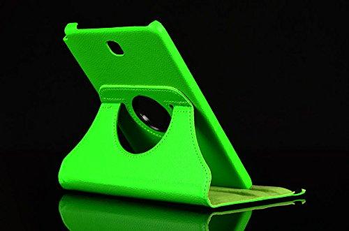 Lobwerk Tasche für Samsung Galaxy Tab A SM-T550 T551 T555 9.7 Zoll Schutz Hülle Flip Tablet Cover Hülle (Grün) NEU