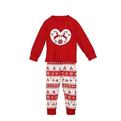 Familie Kerstmis pyjama bijpassende set papa mama me hert afdrukken liefde pyjama tops blouse +broek 2 stks kleding Set Xmas Kids slaapmode Nachtkleding