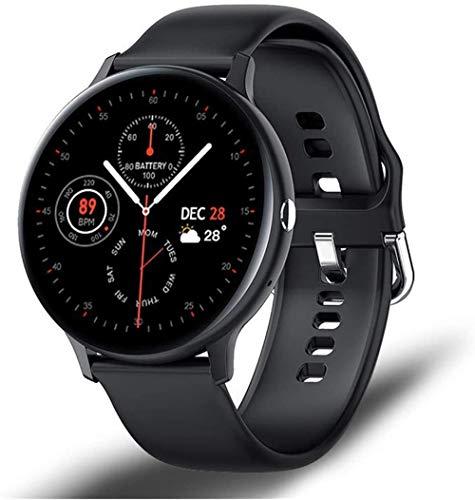 AMBM Reloj inteligente con llamadas Bluetooth, para hombre y mujer, modo deportivo, monitor de frecuencia cardíaca y presión arterial, color negro