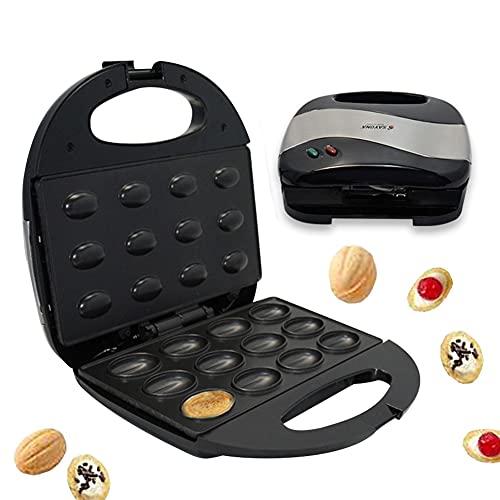 Spray Macchina per cuocere noci, piastra per waffle, macchina per fare dolci di noci elettrica per la casa, tostapane per sandwiches, biscotti per la colazione fatti in casa, per cuocere noci