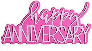 Happy Anniversary Die Cuts for Card-Making and Scrapbooking Supplies by The Stamps of Life