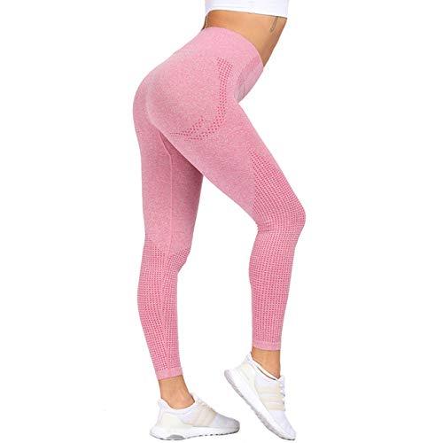Cintura alta sin costuras ordenadas flexiones femeninas fitness yoga pantalones de rodillas ejercicio ropa deportiva gimnasio medias