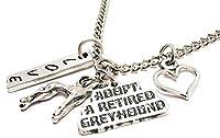 "Adopt a Retired Greyhound with Greyhound 18""ファッションネックレス"