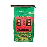 B&B Charcoal Signature Long Burning Smoking Hickory Lump Charcoal with All Natural Material for Grills and Barbecues, 8 Pounds